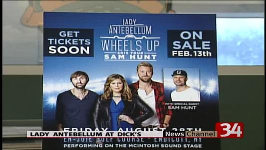 Lady Antebellum coming to Dick's Open_8401568682384705332