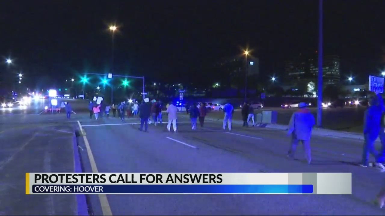 """Protesters block highway, call for answers in Galleria shooting death of Emantic """"EJ"""" Bradford Jr."""