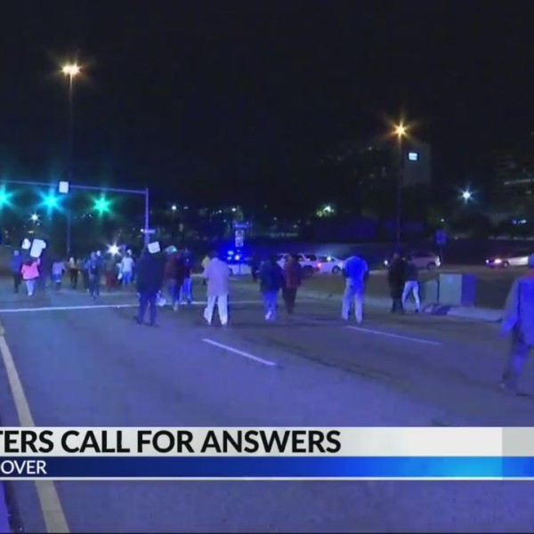 "Protesters block highway, call for answers in Galleria shooting death of Emantic ""EJ"" Bradford Jr."
