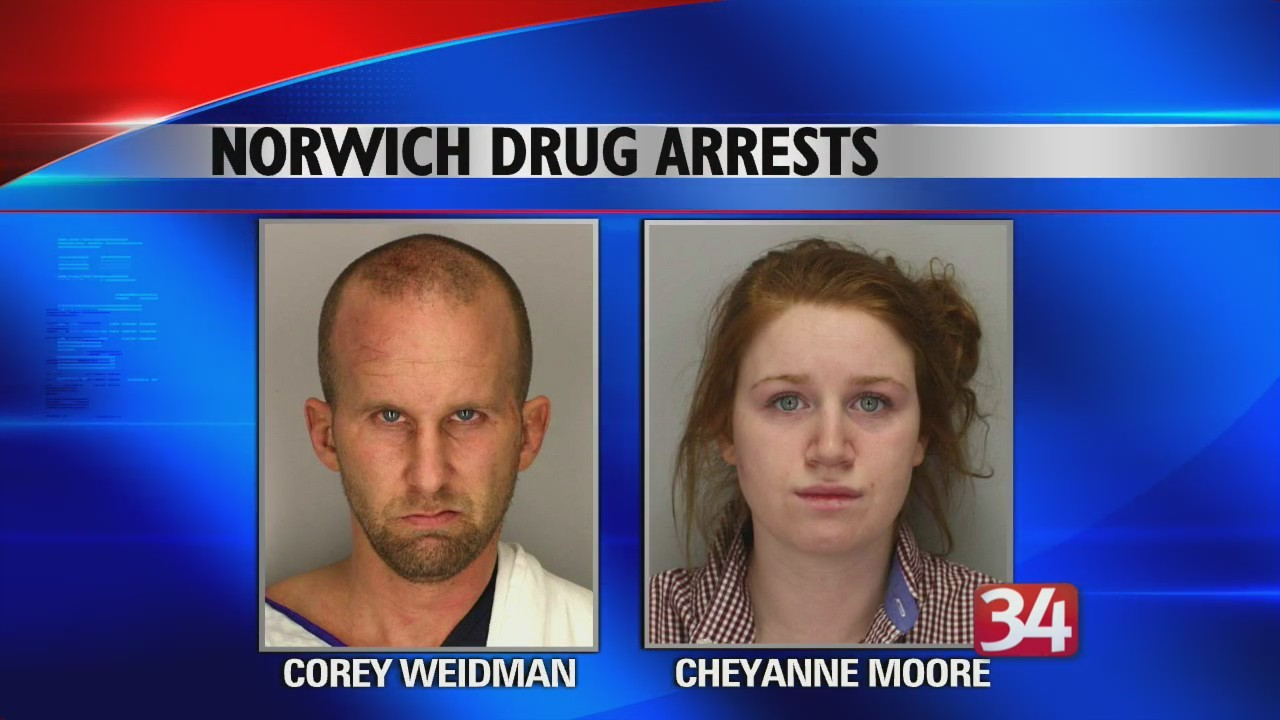 Norwich pair arrested on multiple drug charges