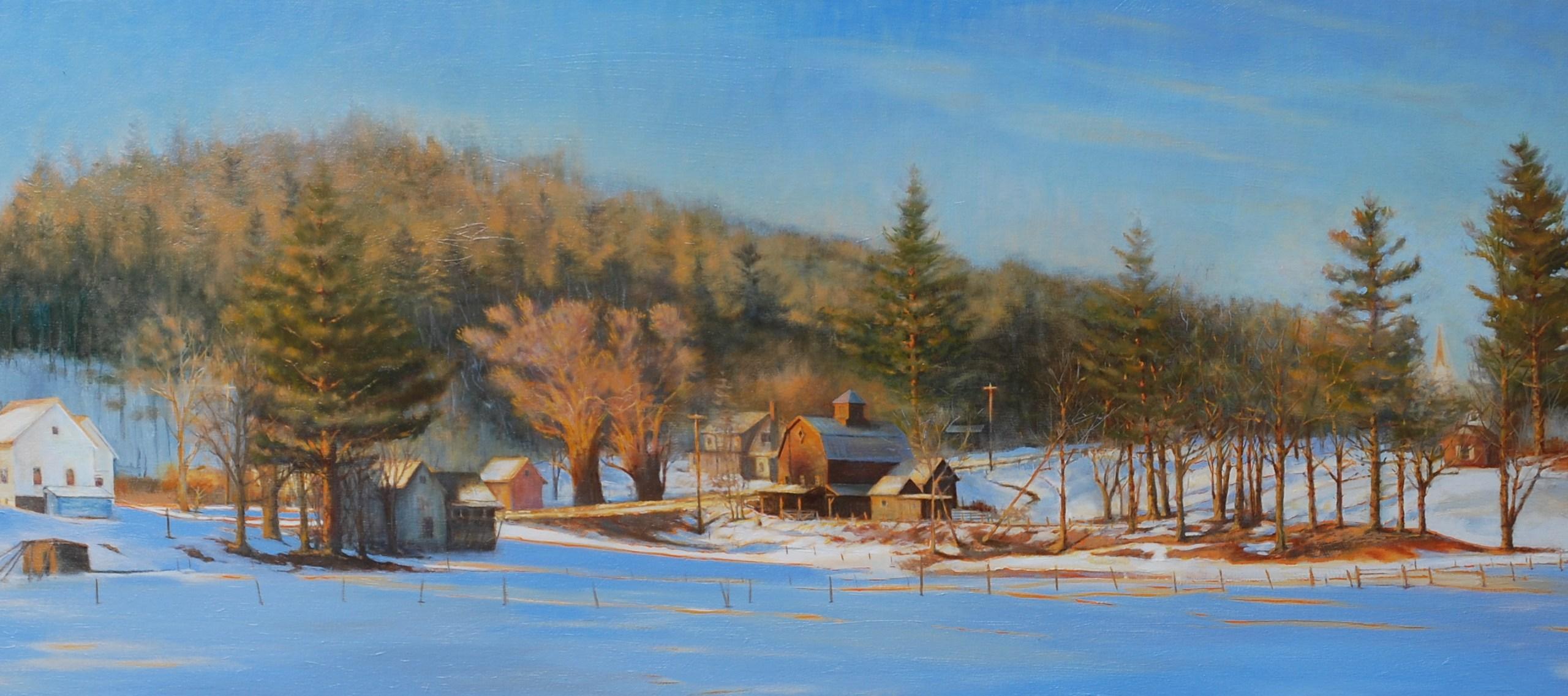 Fahey- Winter Afternoon ,Worcester, Vermont 24x66in oil_1548707196446.JPG.jpg