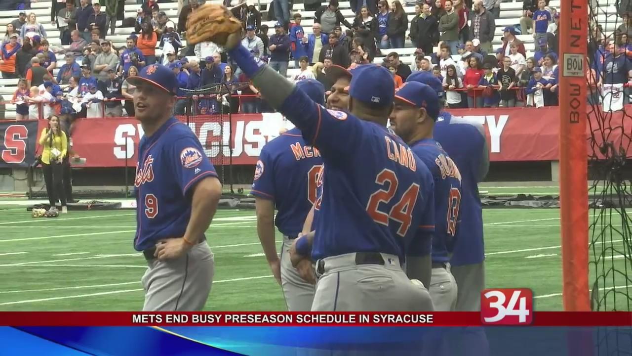 Mets end busy preseason schedule in Syracuse