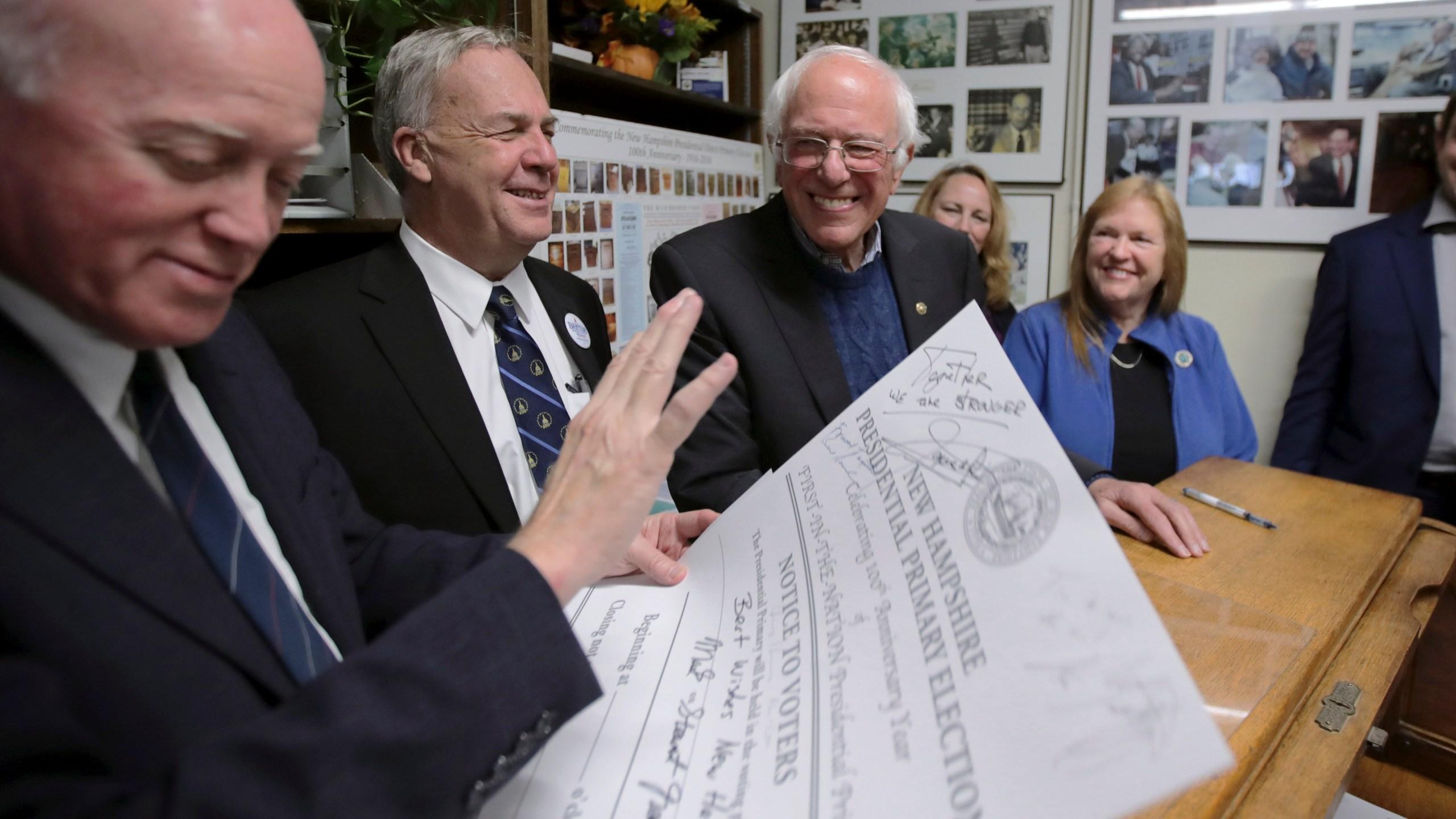 Bernie Sanders, Bill Gardner, Jane Sanders