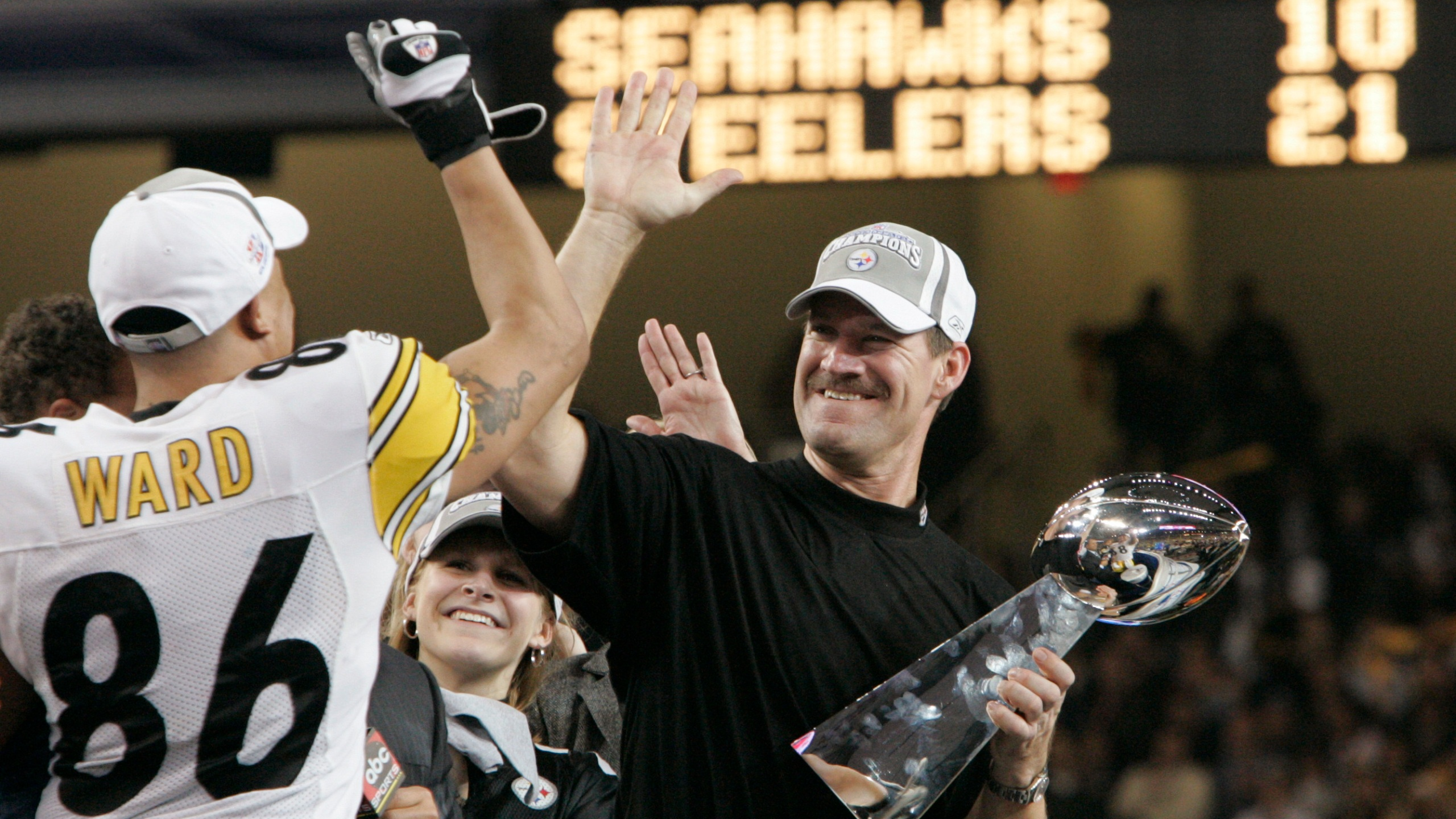 FORD FIELD SEATTLE SEAHAWKS PITTSBURGH STEELERS COWHER WARD