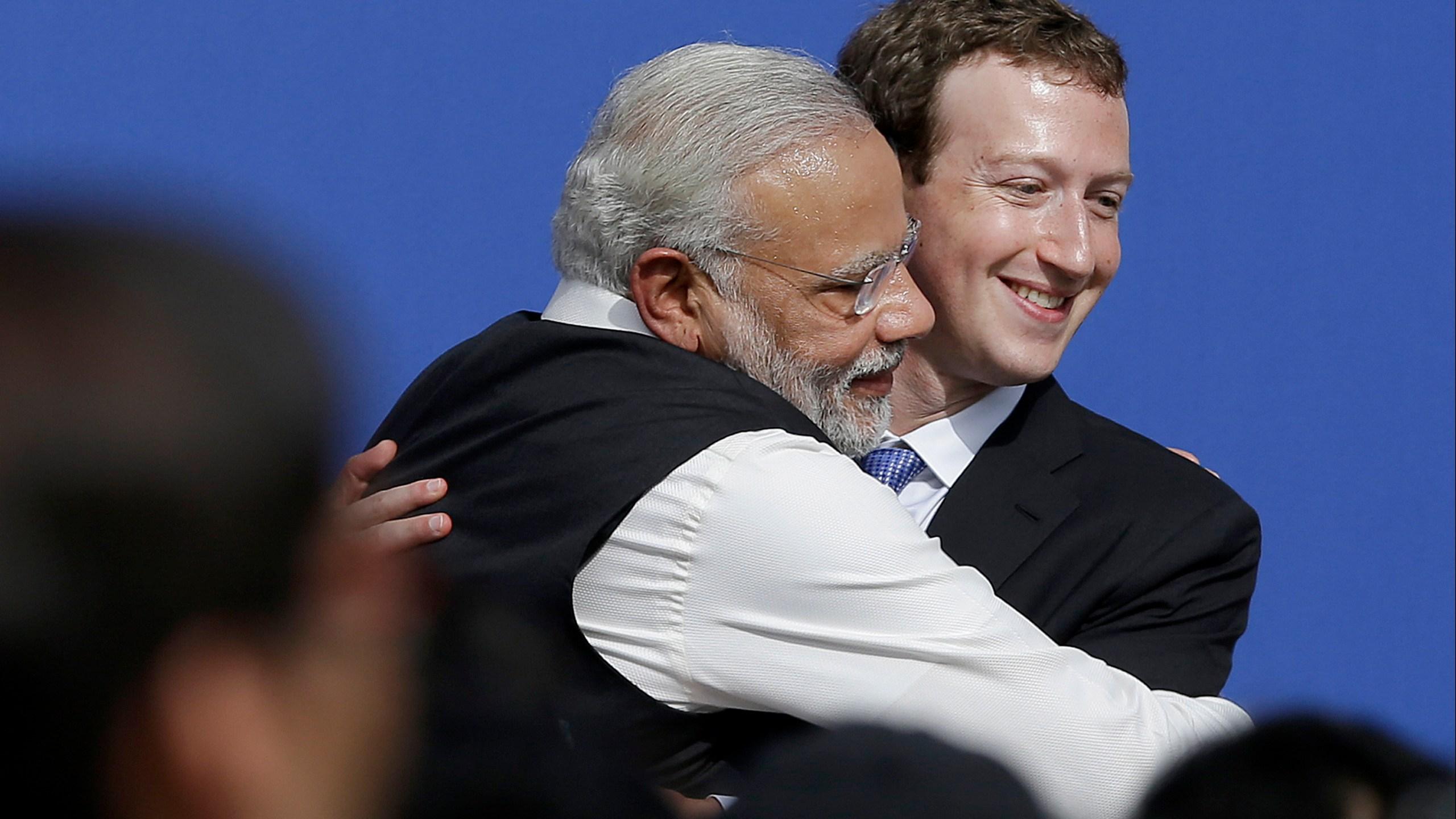 Narendra Modi, Mark Zuckerberg