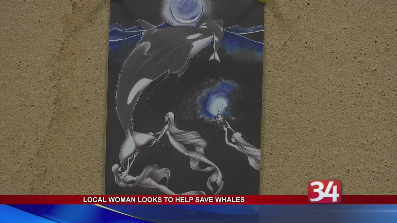 Local woman looks to help save orca whales by using artwork